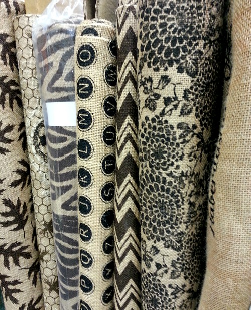 Printed Burlap Fabric