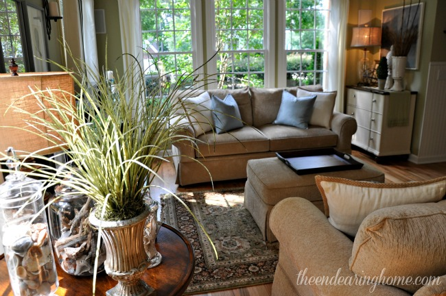 Theendearinghome comOur Coastal Inspired Living Room and could use a little decorating  . Pier One Living Room Decor. Home Design Ideas