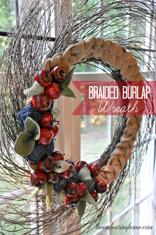 Braided Burlap Wreath - The Endearing Home