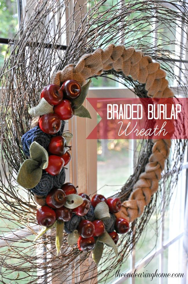 Braided Burlap Wreath - The Endearing Home