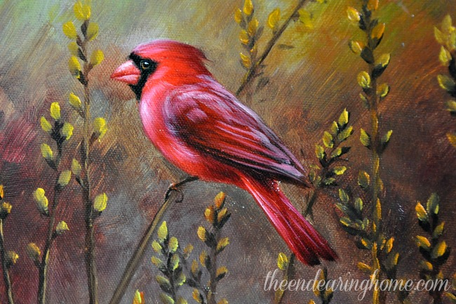 Cardinal Painting 2