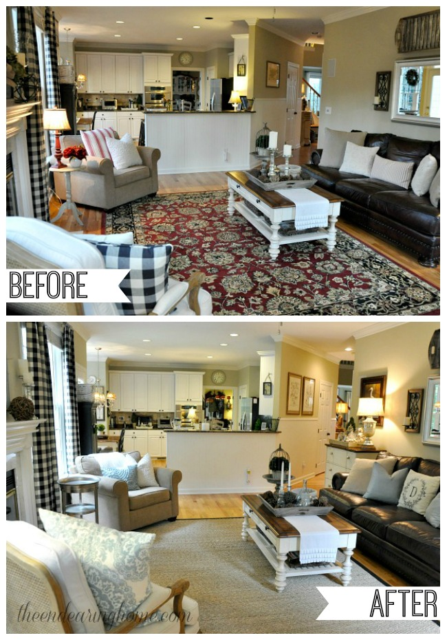 Coastal Cottage Family Room Makeover