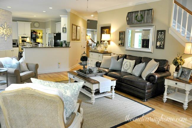 Reorganizing Room: Coastal Cottage Family Room Makeover