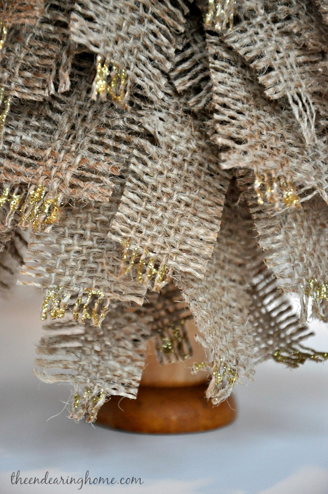 Glitter and Gold Burlap Tree