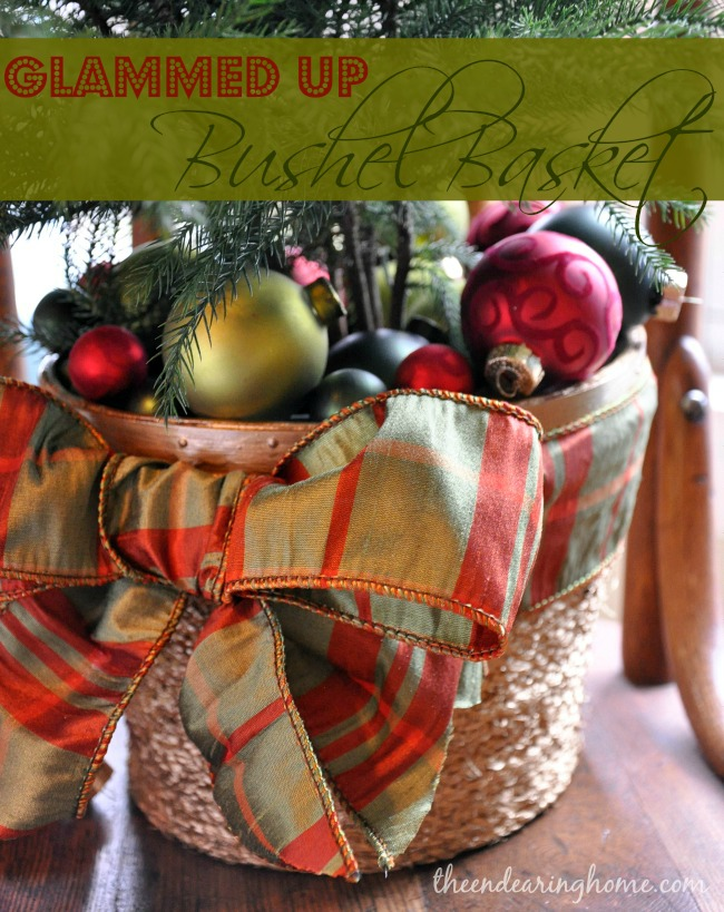 Glammed Up Bushel Basket