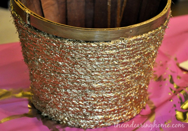 Gold and Rope Basket Makeover