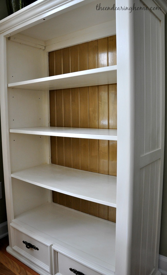 Bookcase Makeover - The Endearing Home