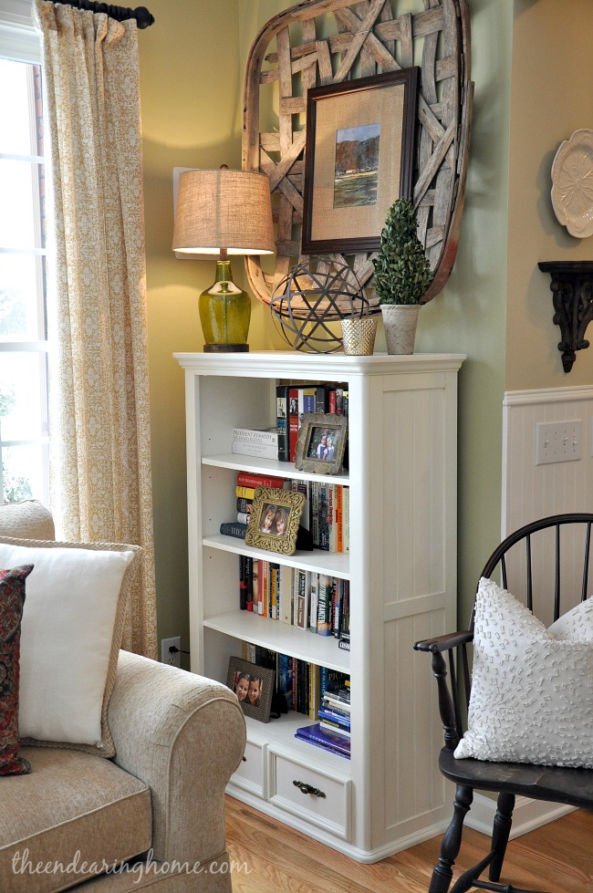 From The Kids Room To Living Bookcase Makeover