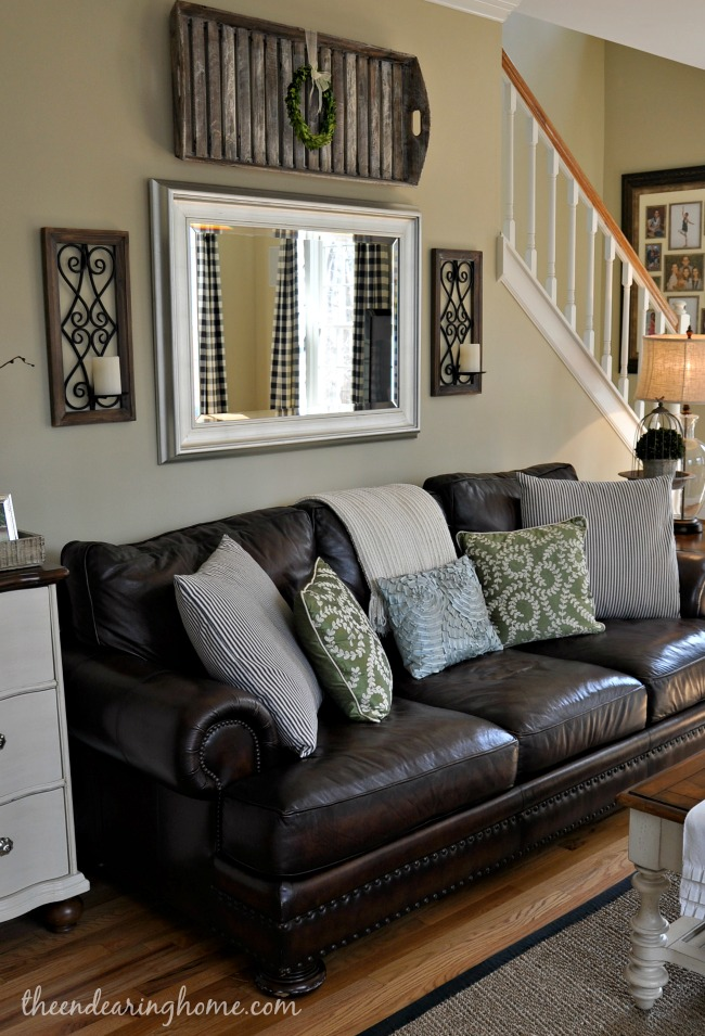 Wall Decor For Over Couch : Updated family room tour