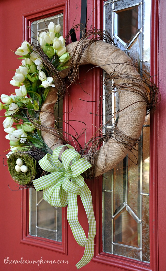 Spring Wreath - The Endearing Home