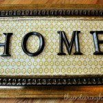 Home Sweet Home Wall Art Project - The Endearing Home