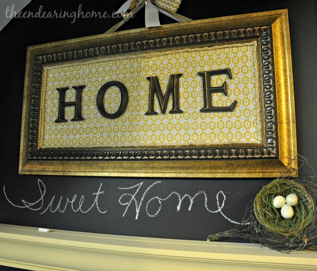 Home Sweet Home Wall Art Project