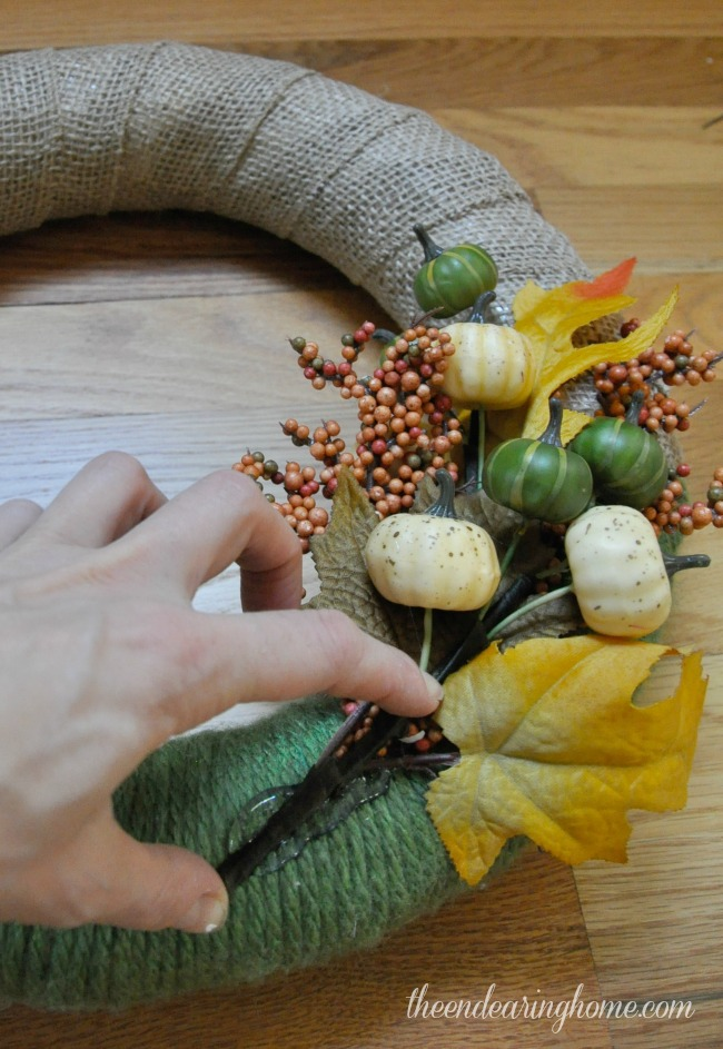 Simple Fall Wreath - The Endearing Home