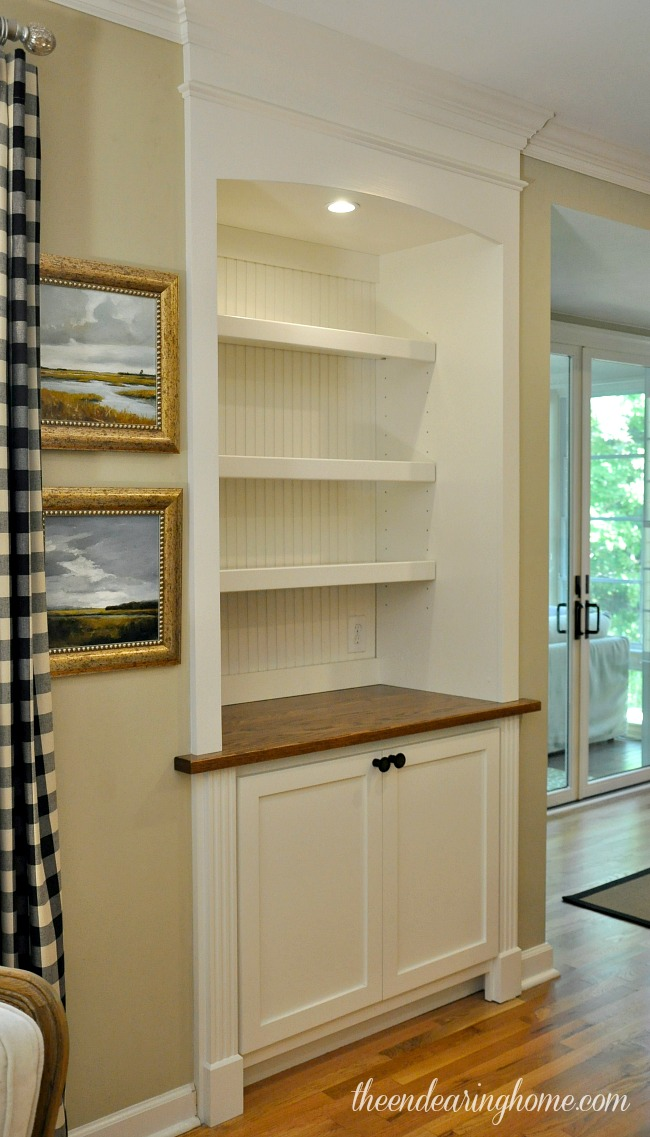 Built In Cabinet - The Endearing Home