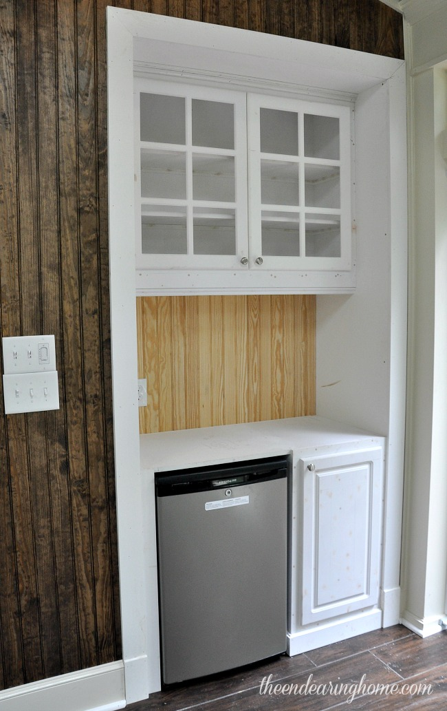 Built In Cabinet on the Porch - The Endearing Home