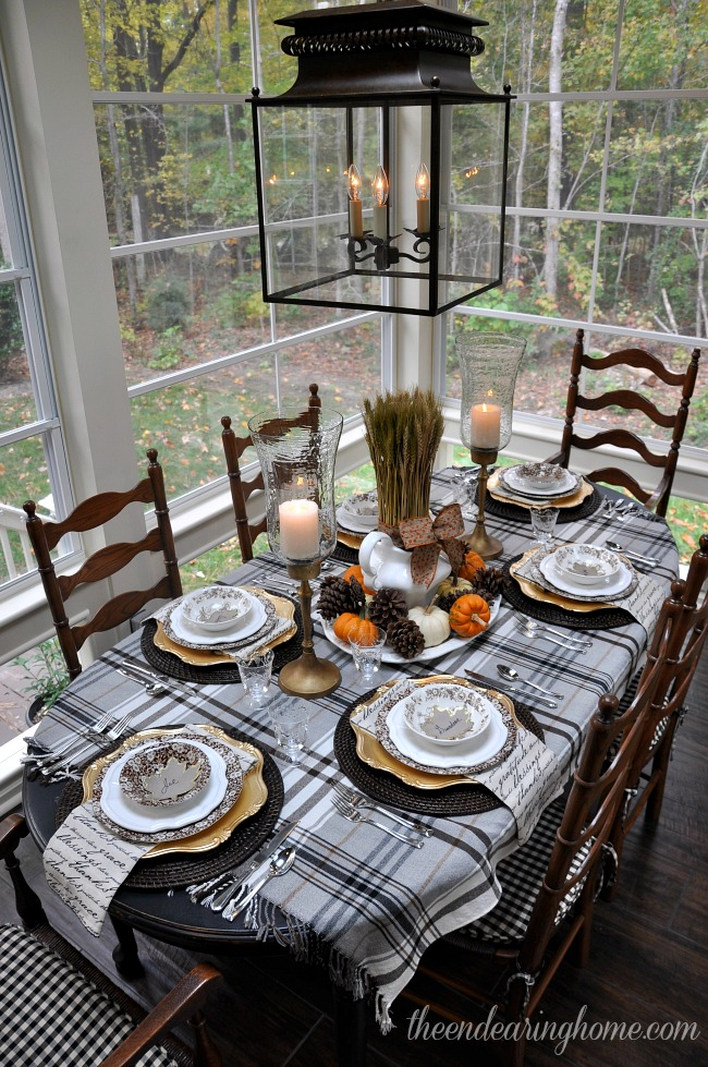 Thanksgiving Tablescape - The Endearing Home