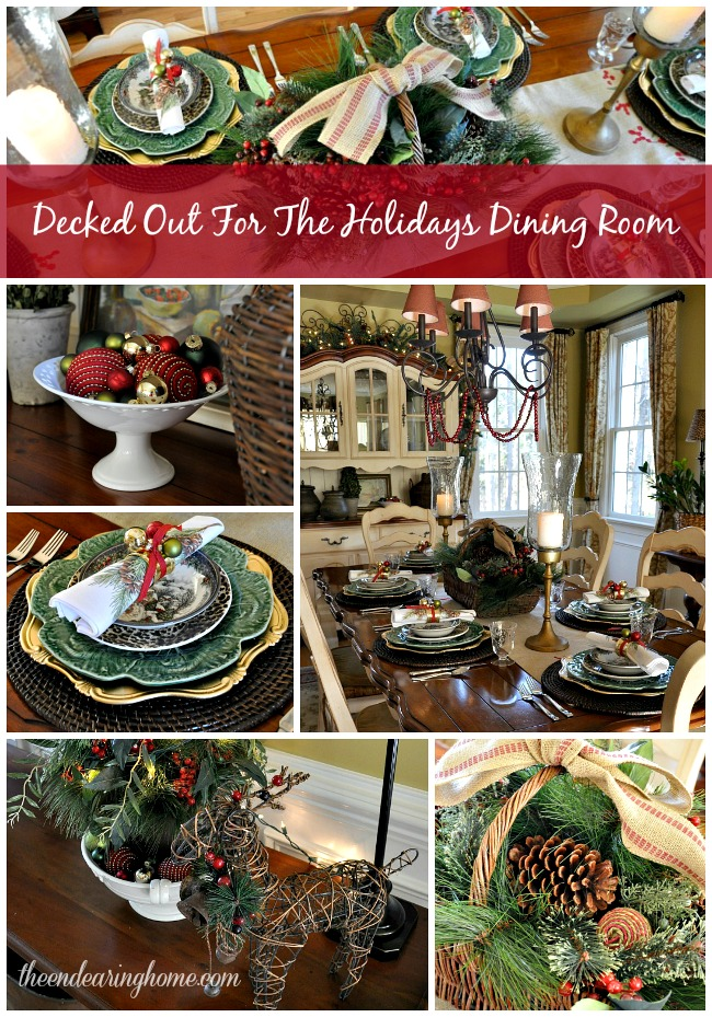 Decked Out For The Holidays Dining Room