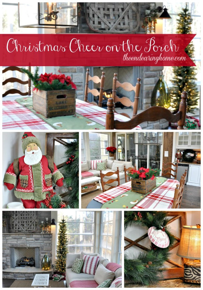 Christmas on the Porch - The Endearing Home