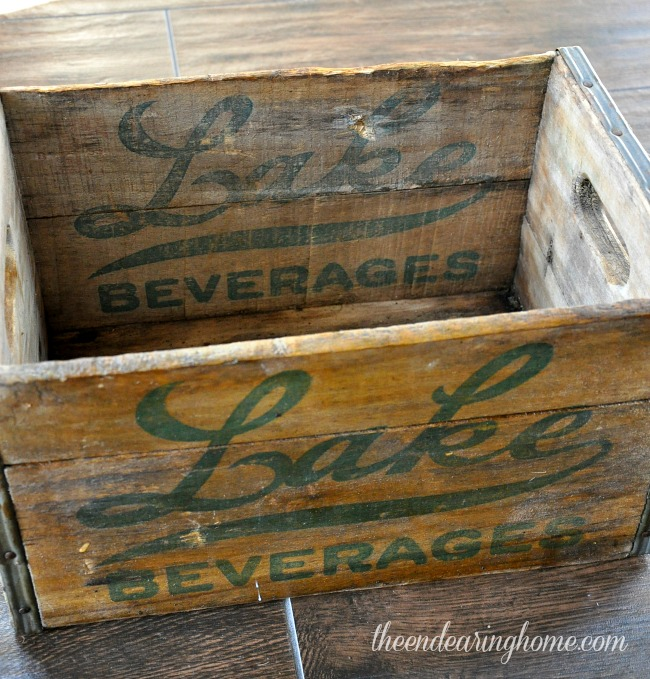 Vintage Crate Centerpiece
