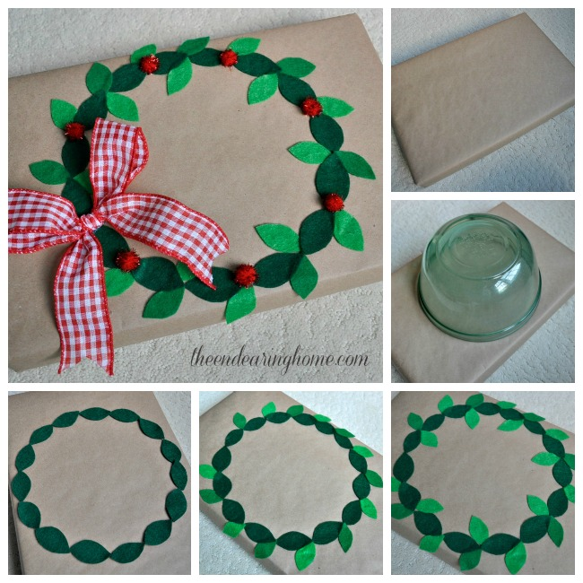 Felt Wreath Gift Wrap