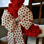 Felt Roses, Yarn and Ribbon Valentine Wreath