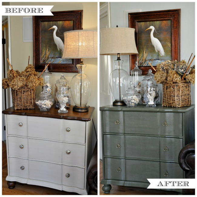 Painted Chest of Drawers Makeover