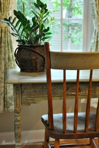 Antique Desk Makeover with Milk Paint