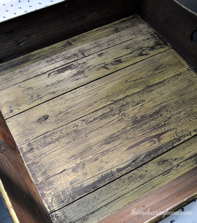 Weathered Wood Tray Makeover -The Endearing Home