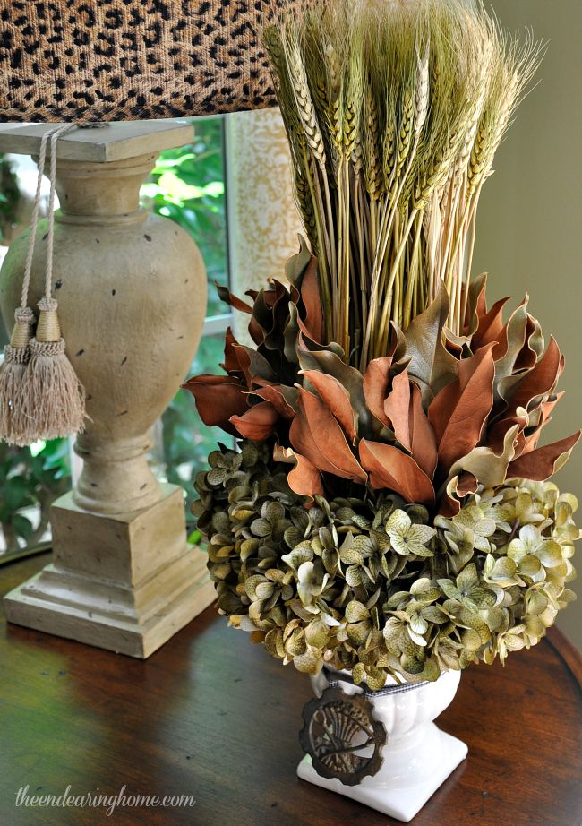 Wheat Fall Decor Makeover - The Endearing Home