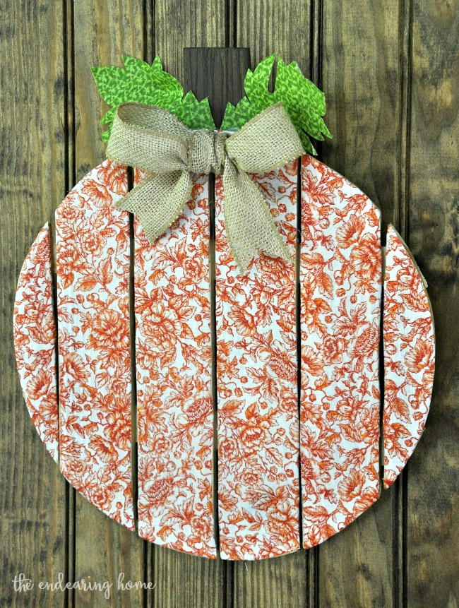 Decoupage Fabric and Wood Pumpkin Craft Project