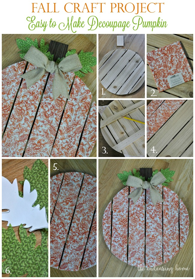 Decoupage Wood Pumpkin Craft Project
