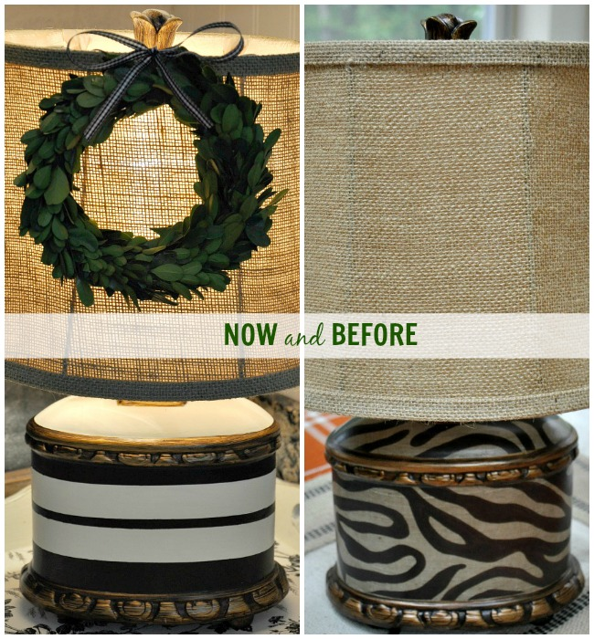 French Grain Sack Stripe Inspired Makeover - The Endearing Home