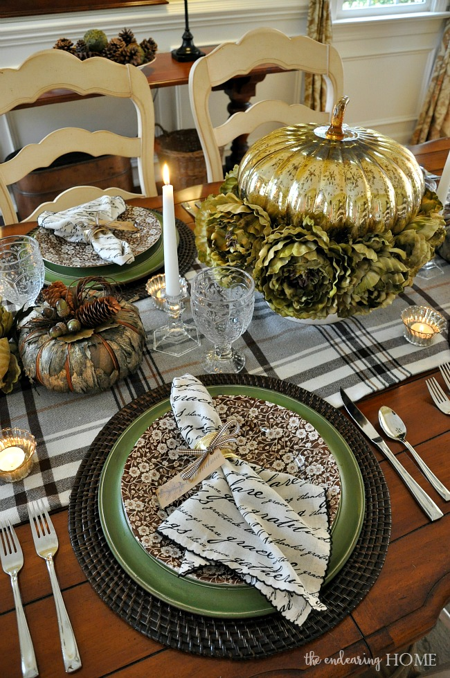 thanksgiving 2015 tablescape - the endearing home