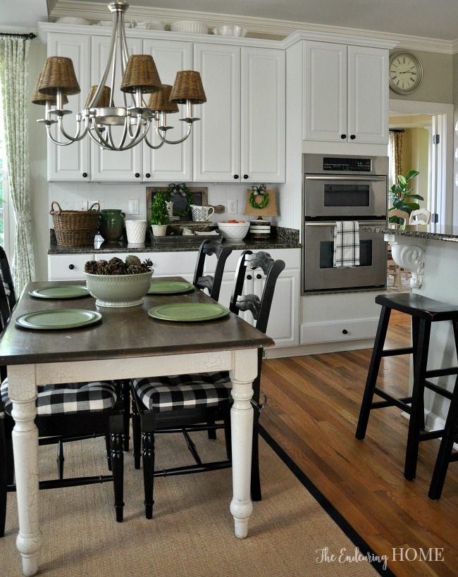 Farmhouse style kitchen table makeover workwithnaturefo
