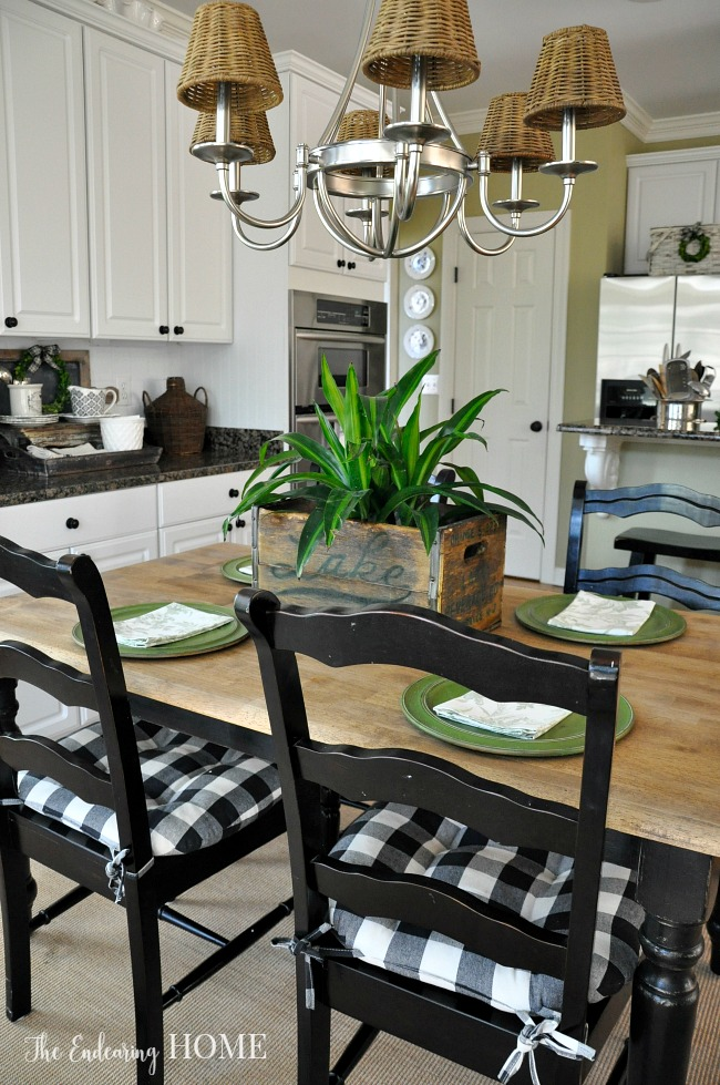 wood farmhouse kitchen table makeover after