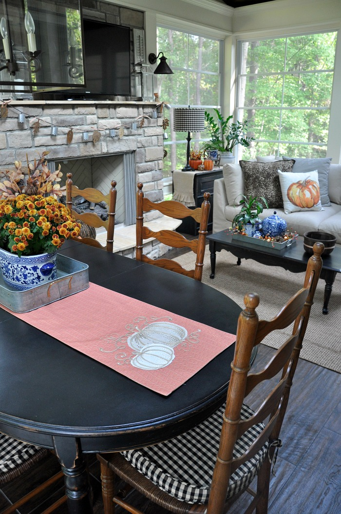 Fall 2016 back porch tour - The Endearing Home