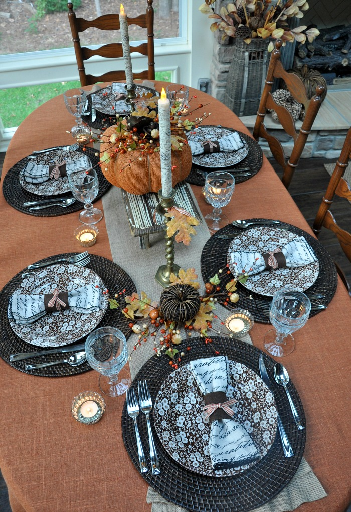 Fall Tablescape - The Endearing Home