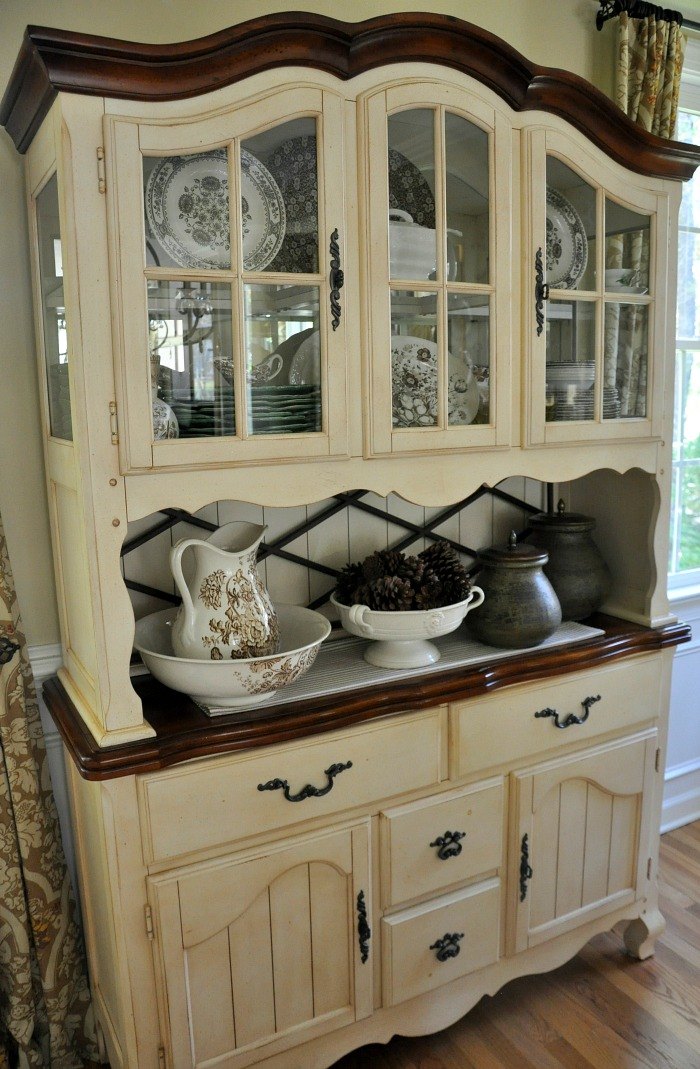French Country Dining Room Buffet and Hutch