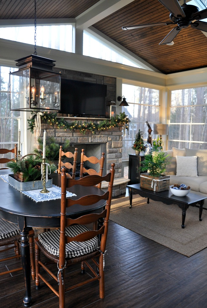 Christmas Home Tour 2016 - Back Porch on Apartment Back Porch Ideas id=87788